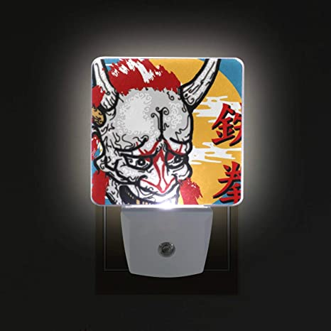 LED Night Lights with Ninja Print, Plug-in Lamp for Hallway ...