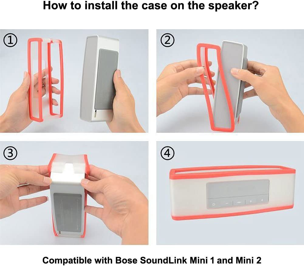 HopCentury Replacement TPU Gel Soft Case Skin Cover Pouch Box for Bose Soundlink Mini Bluetooth Speaker Black
