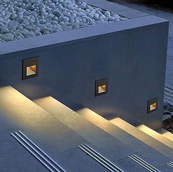 Luz De Ángulo De Escalón De Cubierta Led De 5W Sensor De Luz De Escalera Al Aire Libre Luz De Escalera Enterrada Incrustada A Prueba De Agua Blanco Cálido Gris_Tipo De Sensor: