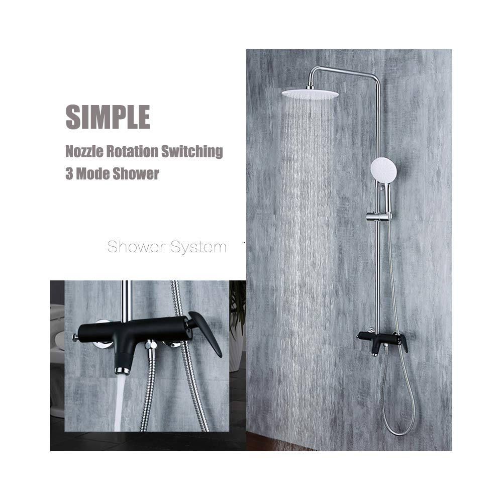 Wall-Mounted Shower System, Wall-Mounted Shower Set Luxury rain Mixer, rain Shower top Shower Set, Thermostatic Shower Set (Third Gear Adjustment) by Take a shower-YAMEIJIA (Image #2)