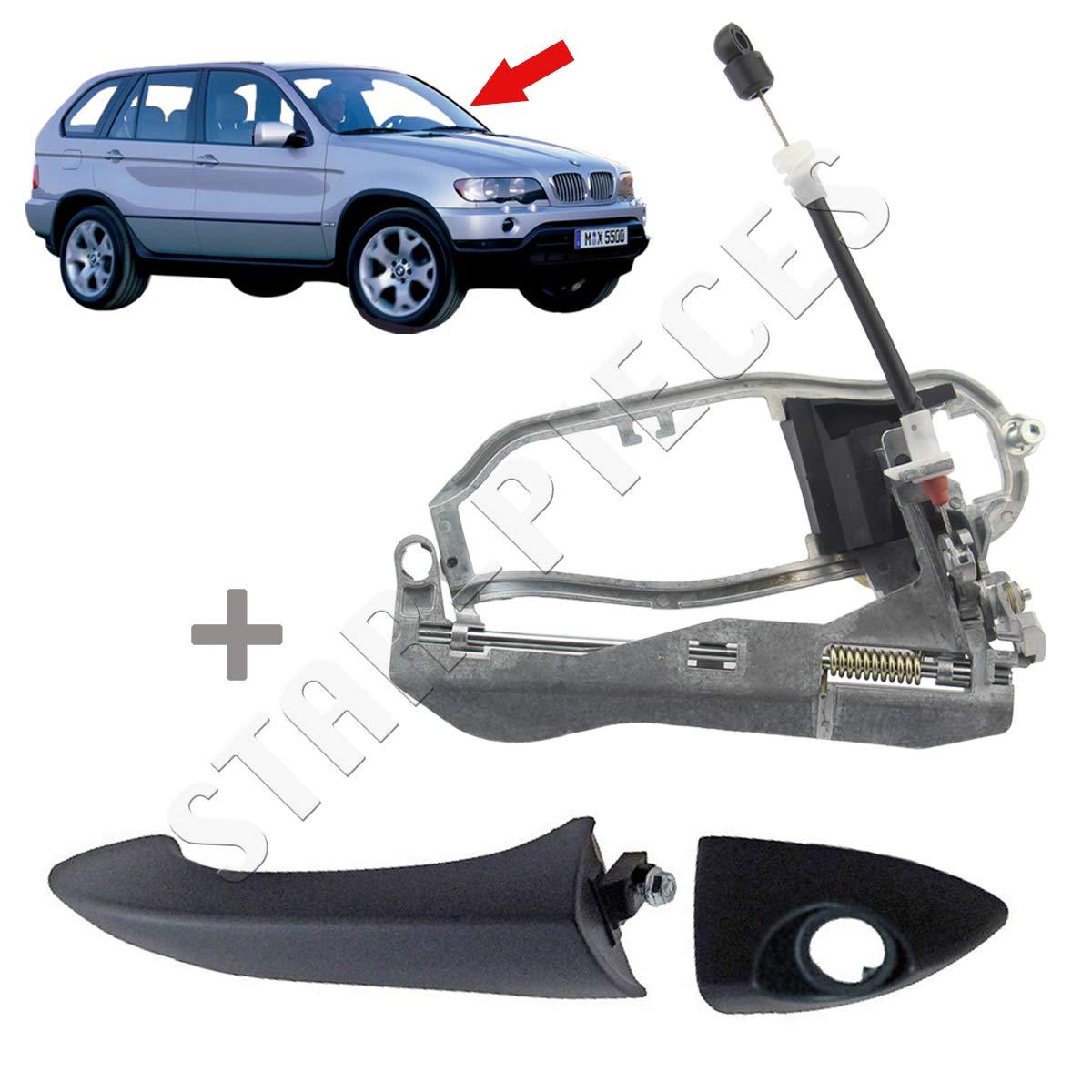 de 1999 /à 2006 M/écanisme et poign/ée ext/érieure de porte avant gauche conducteur pour X5 E53