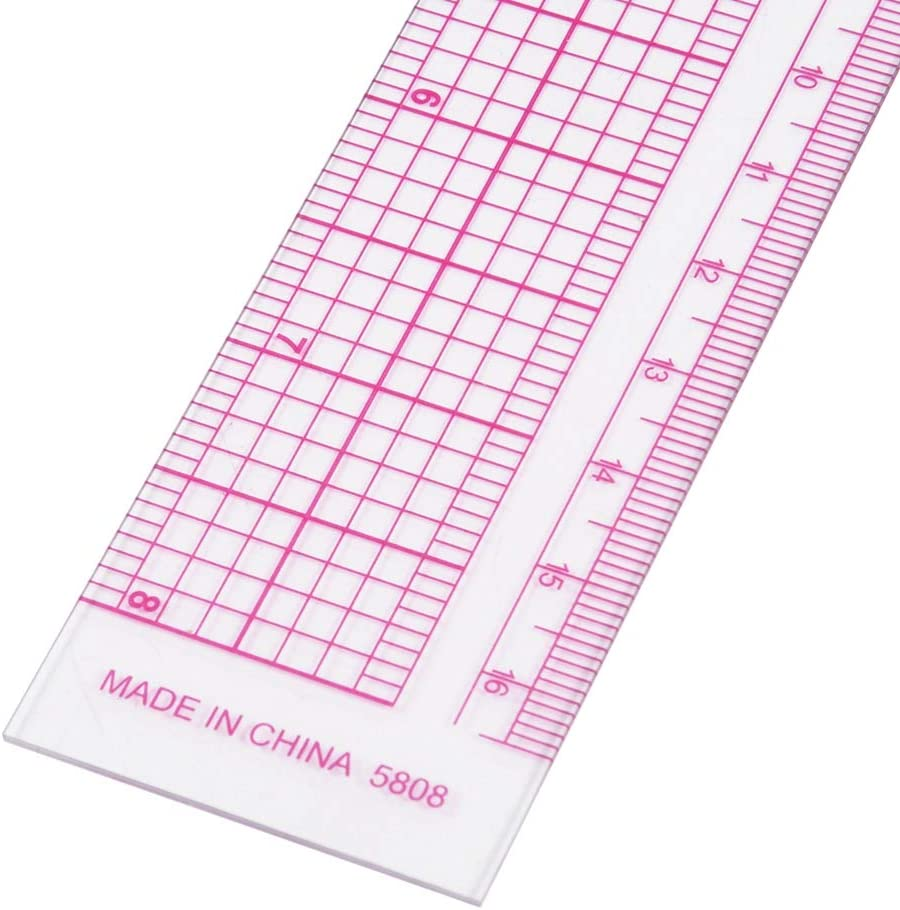 Qinhum Sewing Ruler,L-Square Shape French Curve Ruler Plastic Sewing Measuring Ruler for Tailor Craft Sewing Dressmaking