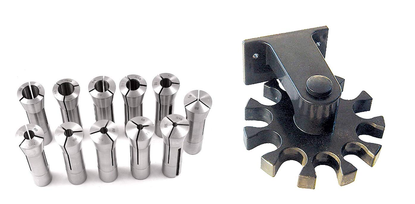 R8 Collet Tool Holder Rack Made in USA