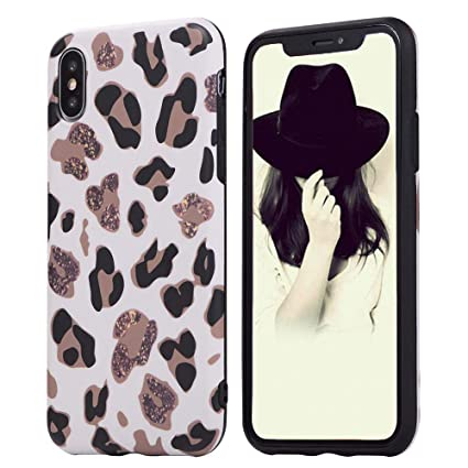 Animal Leopard Print Phone Case Cool For Iphone Xs Max Ultra Thin Giraffe Pattern Cute Back Cover Skin Cheetah Cat Gel Silicone Tpu Protective Cover