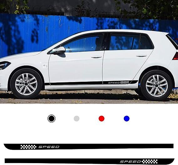 KKmoon Adesivo per Auto Blu 5 Pezzi Cofano della Portiera della Portiera Laterale dellautoadesivo Specchietto Retrovisore Strisce Adesivi Decalcomanie da Corsa