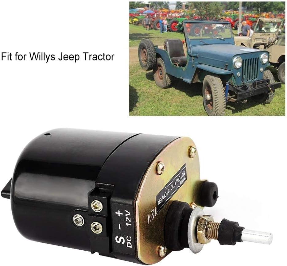 KSTE Scheibenwischermotor 12V Auto Auto Scheibenwischermotor for Willys Jeep Traktor 01287358 7731000001