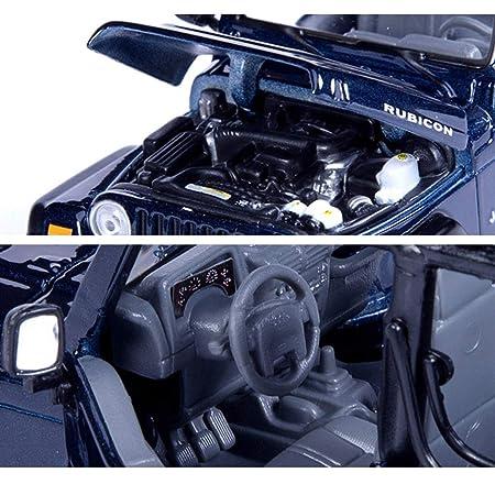 LIUFS-Coche De Aleación 1:27 Jeep Wrangler Car Model Simulación JeepSUV Off-Road Estática Aleación Modelo De Coche Fábrica Original (Color : Azul) : ...
