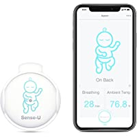Sense-U Baby Breathing Monitor - HSA/FSA Approved - with Movement Temperature Smart Sensors: Tracks Baby's Breathing…