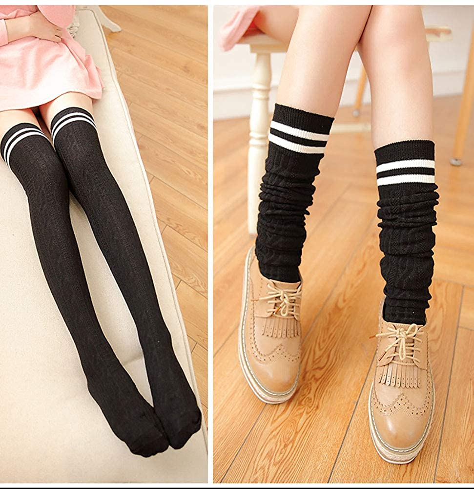Girls Dance Footed Winter Knit Tights Warm Stockings