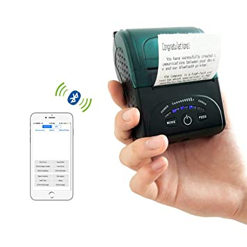 ZKTeco ZKP5808 Mini Impresora de Recibos portátil Bluetooth ...
