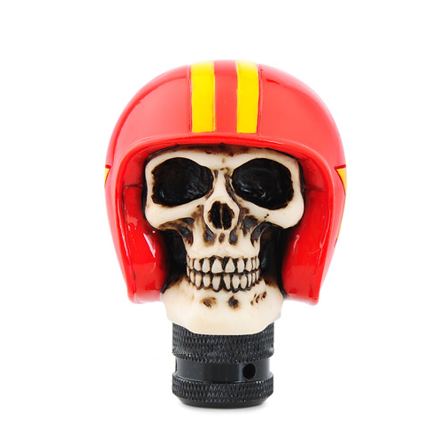Bashineng Shifter Knobs Skull Shape Head Stick Car Accessories Soldier Hat Gear Universal Knobs Shift