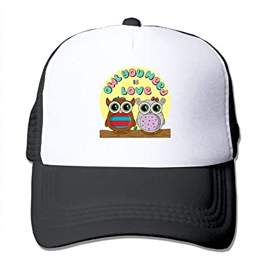rongxincailiaoke Owl You Need is Love3 Mesh Hat Baseball Caps ...