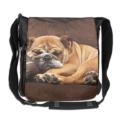 English Bulldog Puppy Dog Fashion Print Diagonal Single Shoulder Bag