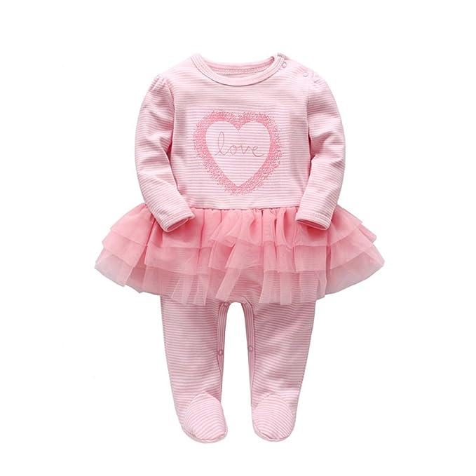 37b9ec7dea08 Baby Girls Romper Tutu Dress Newborn Clothes Infant Cotton Love Print Long  Sleeve Bodysuits (0