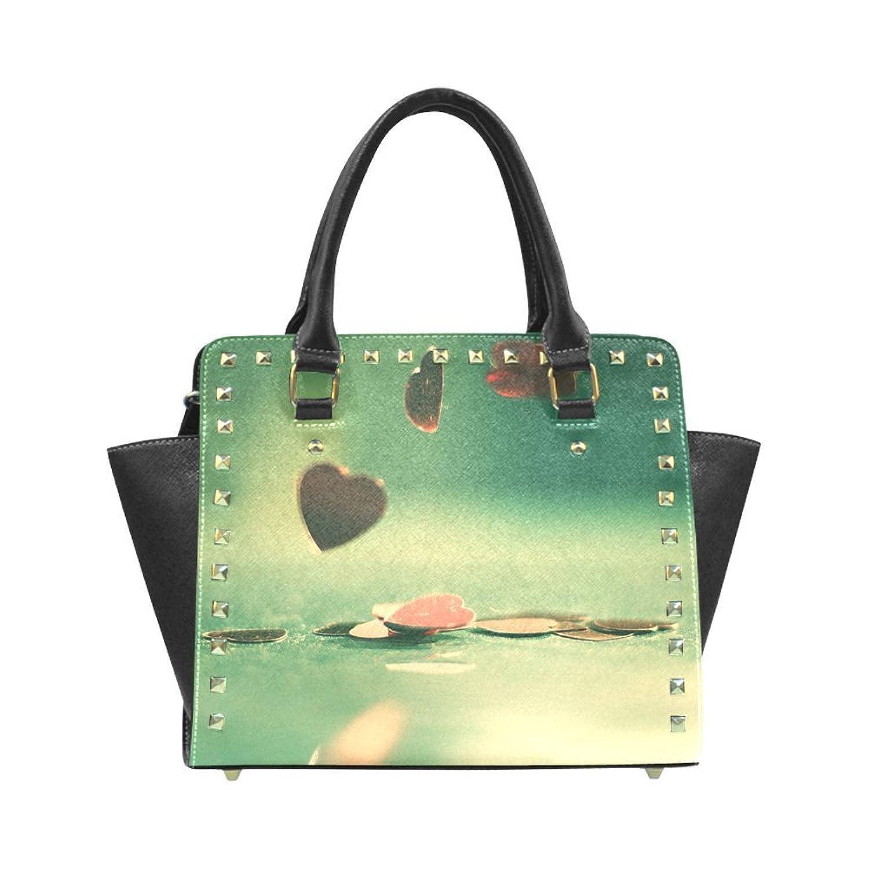 Personalized custom atlas style Rivet Shoulder Handbag.