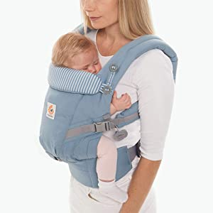 Ergobaby Baby Carrier Adapt Infant to Toddler Carrier, Azure Blue