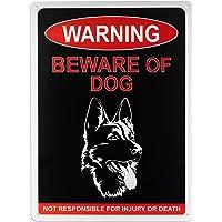"Beware of Dog Warning Sign, 10"" x 14"" Rust Free Reflective 0.60 Aluminum with German Shepherd, UV Printed- Weather/Fade…"