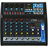 Pyle Professional Audio Mixer Sound Board Console - Desk System Interface with 6 Channel, USB, Bluetooth, Digital MP3…
