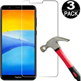 [3 Pack]Huawei Honor 7X/Mate SE Screen Protector Tempered Galss [9H Hardness][Anti Scratch][Bubble Free]HD Clear Tempered Glass Screen Protector Film for Huawei Mate SE/Honor 7X