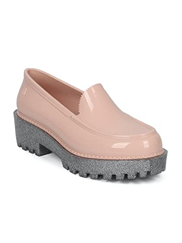 c9bd0f9edb9 Melissa Panapana Women PVC Jelly Glitter Lug Sole Loafer HC25 - Pink (Size   6.0