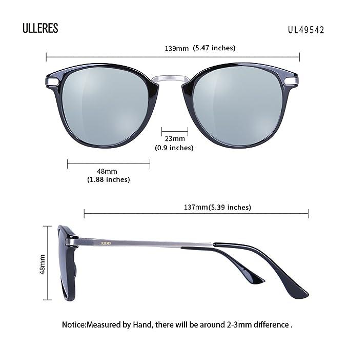 f3ec80abd860a ULLERES Wayfarer Retro 80s Polarized Sunglasses for Kids Boys and Girls  (Black B)  Amazon.ca  Clothing   Accessories