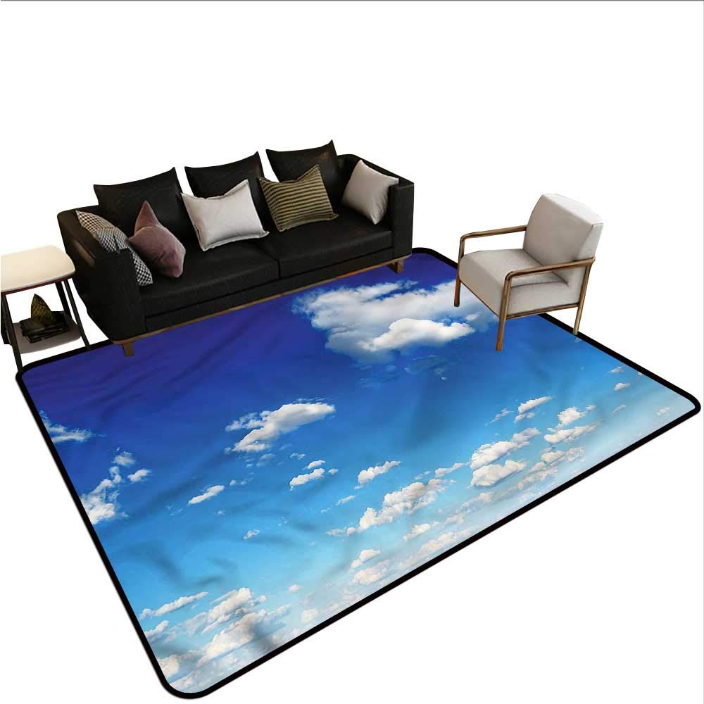 """Landscape,Office Chair Floor Mat Foot Pad 60""""x 72"""" Outdoors in a Sunny Day Throw Rugs"""