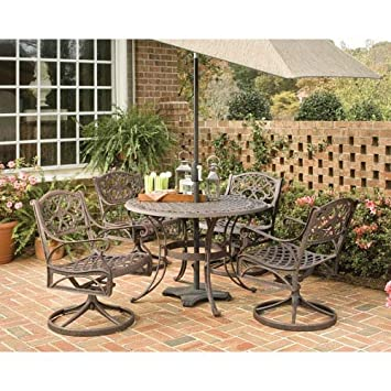 Biscayne Bronze 5-Piece Outdoor Dining Set by Home Styles
