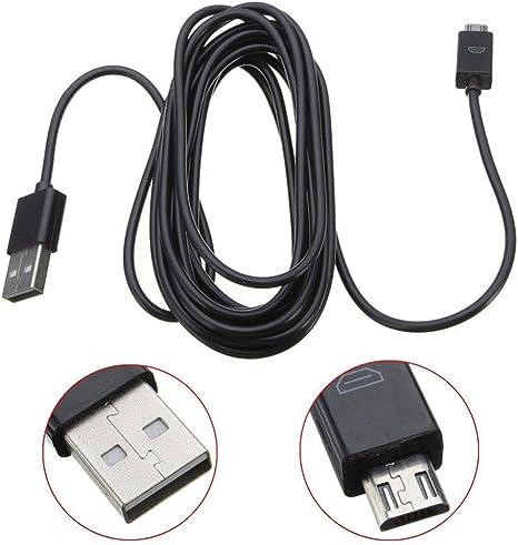 SATKIT 3 Metros Largo Micro USB Cable De Carga para Mandos PS4 y Mandos Xbox One para cargar y JUGAR: Amazon.es: Videojuegos
