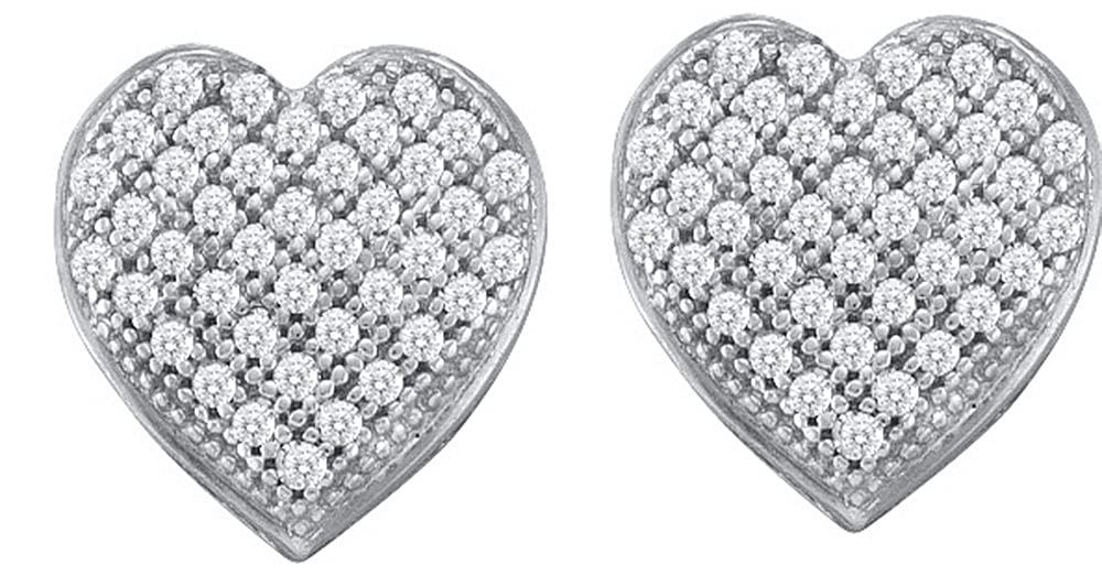 1 10 Carat DIAMOND HEART EARRINGS
