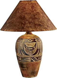 High Quality Indian Marigold Handcrafted Southwest Table Lamp