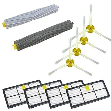 cepillo de cerdas klopfbürste lado Cepillo Herramienta de limpieza de filtro Filtro de aire en Juego para iRobot Roomba 800 866 876 886 870 880 900 980: ...