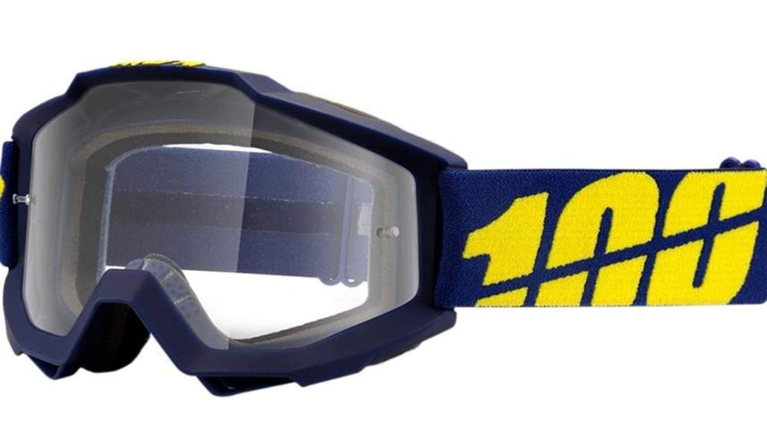 54402c39d1a Amazon.com  100% Accuri Men s Off-Road Dirt Bike Motorcycle Goggles Eyewear  - Blue Yellow Clear   One Size  Automotive