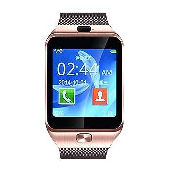 Reloj de Manera Inteligente Deportes Muñequera GSM Bluetooth Rastreador Color Oro: Amazon.es: Juguetes y juegos