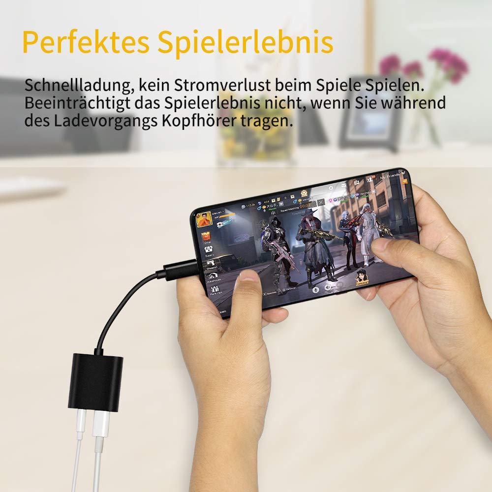 USB C Digital Audio Adapter Xiaomi OnePlus Nexus Huawei MacBook Pro Google Pixel HTC iHoryson USB C auf 3.5mm Klinke Kopfh/örer Adapter mit PD Schnelle Aufladung f/ür New MacBook Nokia Lumia