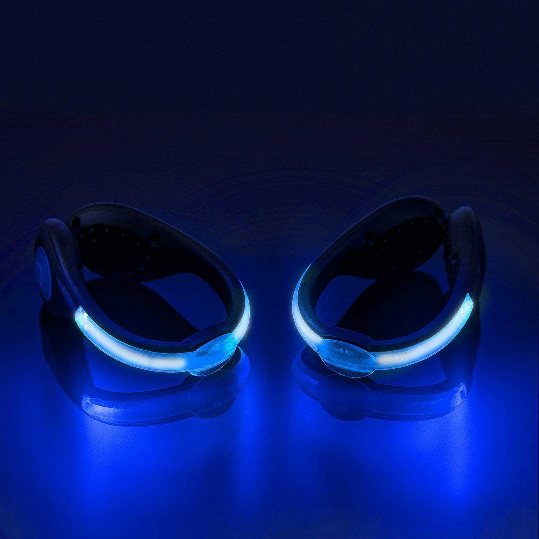 LEDシュークリップライト 反射 安全 夜間ランニングギア ランニング ジョギング ウォーキング サイクリング キャンプ用フラッシュライト (1パック) - ブルー B07PDLV7VW