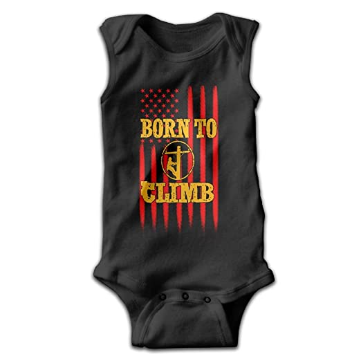 7e1d3a72b Amazon.com: BCoolBodysuit Born To Climb Lineman Baby Bodysuit Cute Baby  Onesies Rompers Bodysuit For Boys And Girls: Clothing