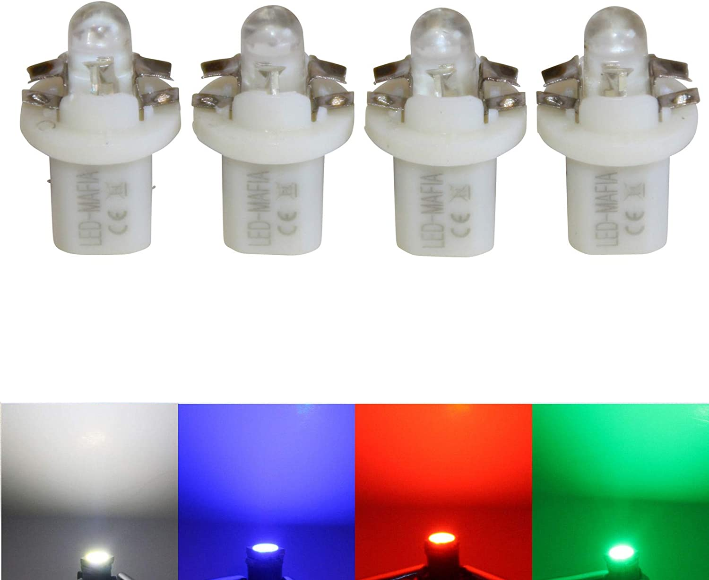 blau LED-Mafia 4X Halogen Round Heat Tachobeleuchtung wei/ß blau rot e MID Set