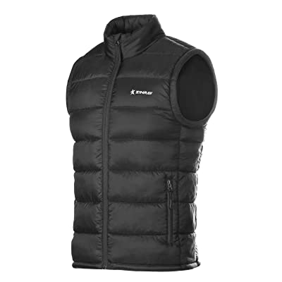 ZINRAY Men's Thermolite Puffer Vest Packable Lightweight for Travel Outdoor Hiking at Men's Clothing store