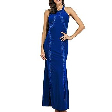 Petalum - Traje de vestir - Sin mangas - para mujer azul 38 ...