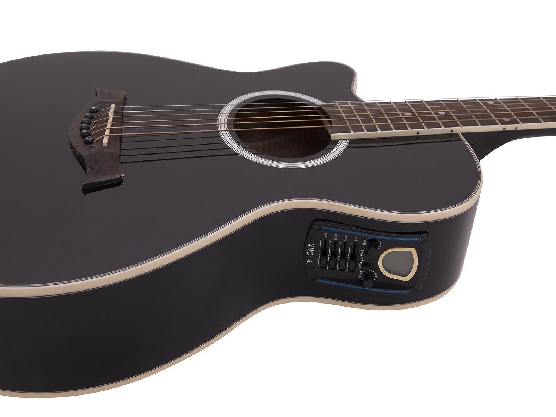 Guitarra Western BRUCE para zurdos con pickup, negro - Guitarra country / Guitarra para avanzados - klangbeisser: Amazon.es: Hogar