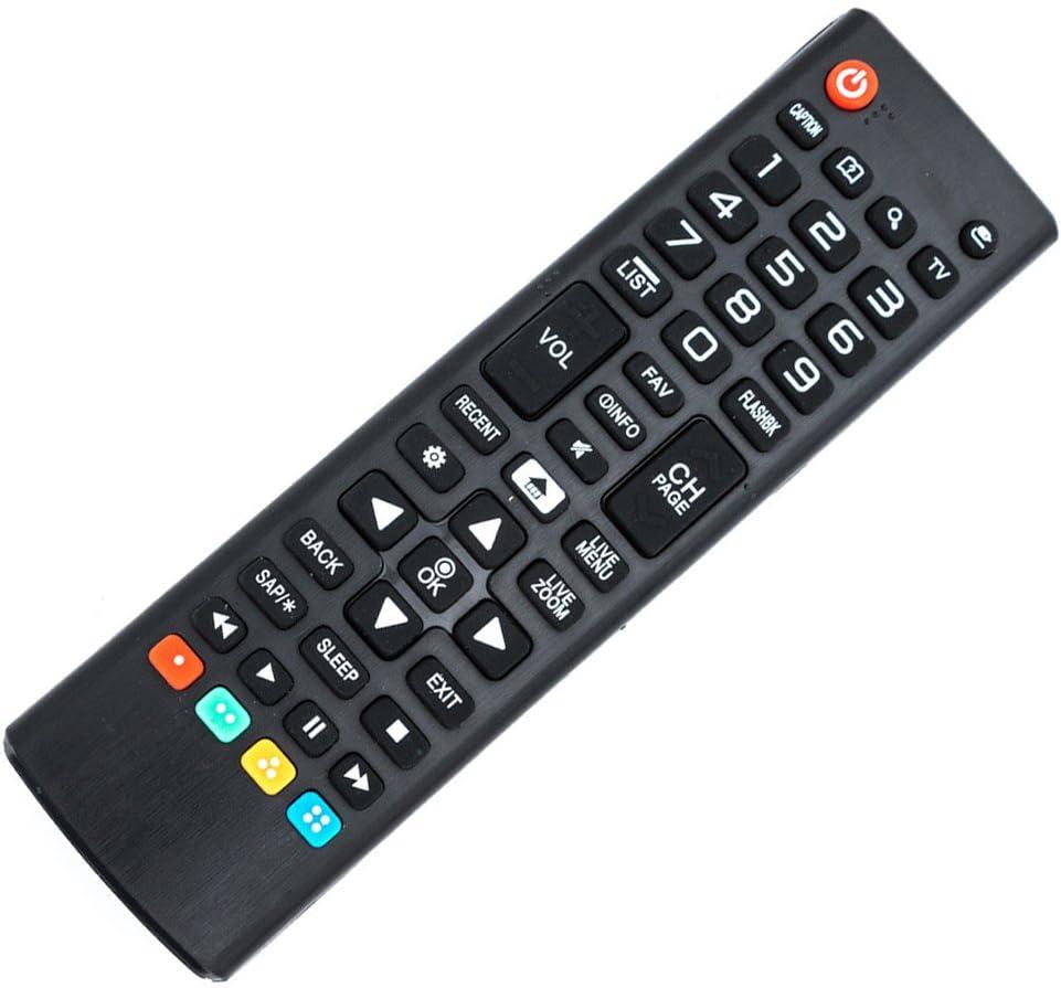 Black Wireless Mini Ultra Slim Keyboard and Mouse For Easy Smart TV Contol for LG 43LJ594V 43 Smart TV