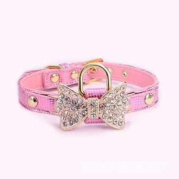 Gulunmun Diamantes de imitación Collares de Perro pequeños Perros ...
