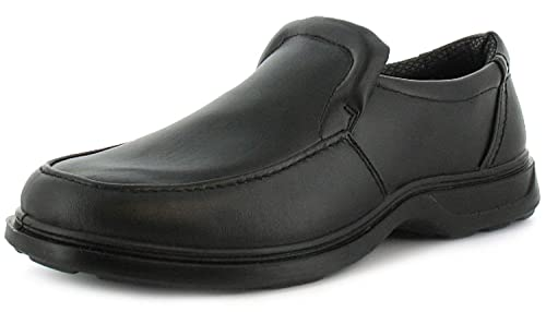 Comfisole New Mens/Gents Black Slip On Wider Fitting Casual Shoes - Black - UK SIZES 6-12