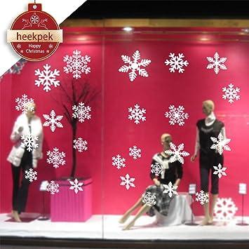 Amazon De 56 Stk Schneeflocken Selbstklebend Fensterschmuck