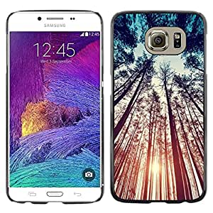 LECELL--Funda protectora / Cubierta / Piel For Samsung Galaxy S6 SM-G920 -- Teal Orange Sun Sunset Woods Summer --