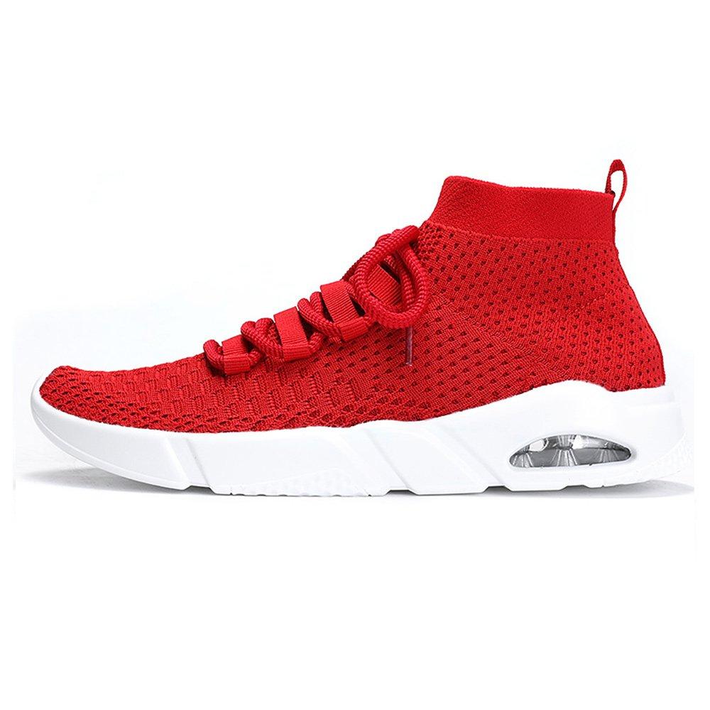 Wus Store Herren Fitnessschuhe Laufschuhe Sneaker Straszlig;enlaufschuhe Sportschuhe Turnschuhe Gym Leichte und Atmungsaktive fuuml;r  41 EU|Rot