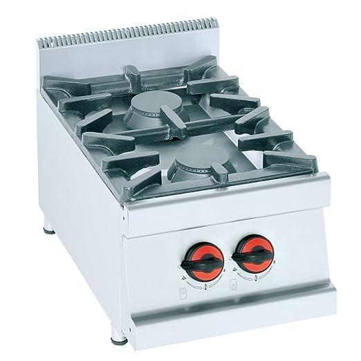 Macfrin S2P Cocina de Sobremesa a Gas 2 Fuegos 13 Kw ...