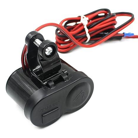 PIXNOR 12-24V motos moto alimentación puerto USB mechero enchufe cargador