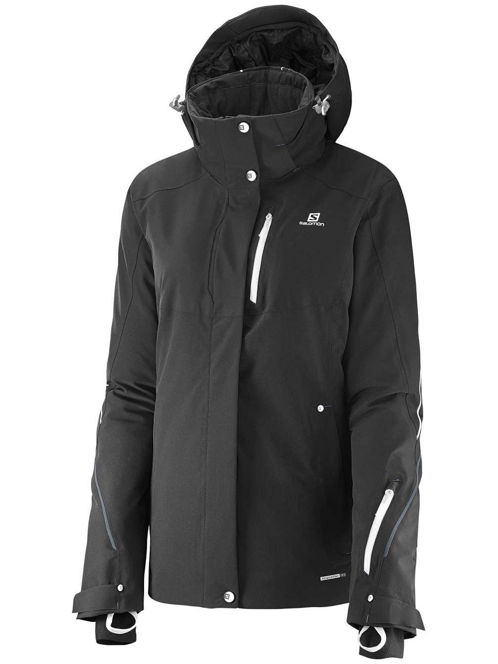 W Para Salomon Negro Chaqueta Esquí Jacket Brillante Color De Mujer qB1PaYf