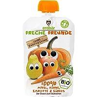 erdbär Freche Freunde 苹果 梨 胡萝卜 南瓜 果泥 6包装 (6 x 100 g)